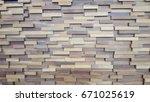 grunge wood panels backgound... | Shutterstock . vector #671025619