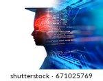 3d rendering of virtual human... | Shutterstock . vector #671025769