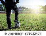 business man in working suit... | Shutterstock . vector #671032477