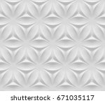 white shaded abstract geometric ... | Shutterstock . vector #671035117