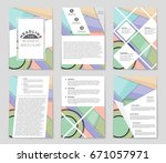 abstract vector layout... | Shutterstock .eps vector #671057971