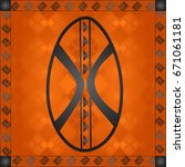 african culture symbolic...   Shutterstock .eps vector #671061181