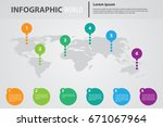 infographic world color... | Shutterstock .eps vector #671067964