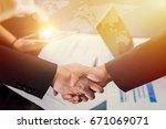 closeup of business people...   Shutterstock . vector #671069071