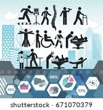 physiotherapy medical info... | Shutterstock .eps vector #671070379