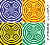 set of four retro patterns.... | Shutterstock . vector #671080975