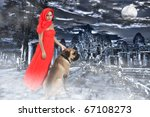 mysterious image of woman with... | Shutterstock . vector #67108273