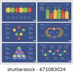 six production charts slide... | Shutterstock .eps vector #671083024