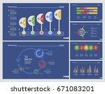 six research charts slide... | Shutterstock .eps vector #671083201