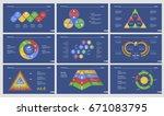 nine workflow slide templates... | Shutterstock .eps vector #671083795