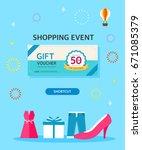 shopping template illustration | Shutterstock .eps vector #671085379