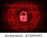 malware ransomware virus... | Shutterstock .eps vector #671094457