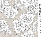 floral seamless pattern with... | Shutterstock .eps vector #671094691