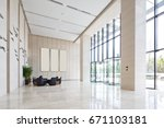 interior of spacious and bright ... | Shutterstock . vector #671103181
