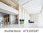 interior of spacious and bright ... | Shutterstock . vector #671103187