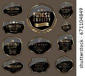 set of black labels | Shutterstock .eps vector #671104849