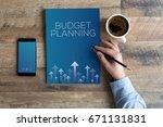 budget planning concept | Shutterstock . vector #671131831
