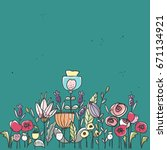 floral card | Shutterstock .eps vector #671134921