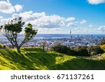 mt eden  auckland new zealand ... | Shutterstock . vector #671137261