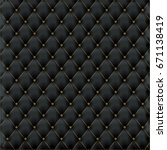 leather texture luxury black... | Shutterstock .eps vector #671138419