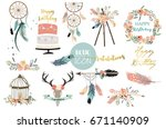card template collection for... | Shutterstock .eps vector #671140909