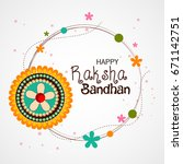 greeting card design with... | Shutterstock .eps vector #671142751
