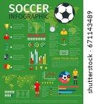 football or soccer sport game... | Shutterstock .eps vector #671143489