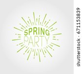 spring party. vector... | Shutterstock .eps vector #671153839
