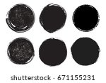 grunge post stamps collection ...   Shutterstock .eps vector #671155231