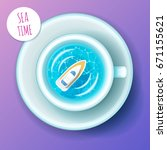 sea time. concept of vacation.... | Shutterstock .eps vector #671155621