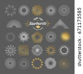 set of vector starbursts.... | Shutterstock .eps vector #671173585
