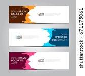 vector abstract design banner... | Shutterstock .eps vector #671175061