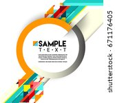 abstract geometric background ... | Shutterstock .eps vector #671176405