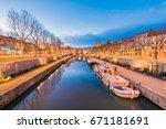 narbonne  france   february 13  ... | Shutterstock . vector #671181691