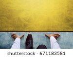 start background  top view of...   Shutterstock . vector #671183581