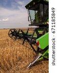 combine harvester agriculture...   Shutterstock . vector #671185849