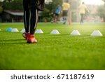 soccer football training... | Shutterstock . vector #671187619