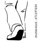 Legs Of A Walking Away Man....