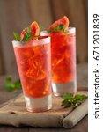 grapefruit lemonade and cola... | Shutterstock . vector #671201839