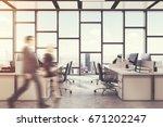 concrete floor  panoramic... | Shutterstock . vector #671202247
