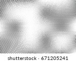 abstract halftone dotted... | Shutterstock .eps vector #671205241
