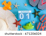 august 1st. image of august 1... | Shutterstock . vector #671206024