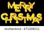 merry christmas. text for... | Shutterstock .eps vector #671208211