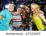 photo of excited teenagers... | Shutterstock . vector #67121047