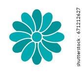 chamomile head glyph color icon.... | Shutterstock .eps vector #671212627