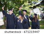 education  graduation and... | Shutterstock . vector #671215447