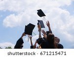 education  graduation and... | Shutterstock . vector #671215471