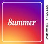cover for post. summer title | Shutterstock .eps vector #671221321