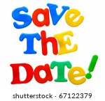save the date written in a mix... | Shutterstock . vector #67122379