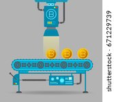 bitcoin mining vector concept...   Shutterstock .eps vector #671229739
